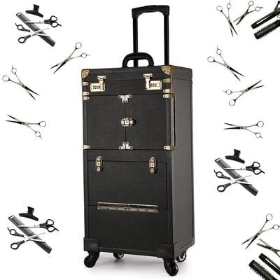 Bagage de maquillage multifonctionnel Style rétro CARRYLOVE outils de coiffure professionnels valise personnalisée de marque