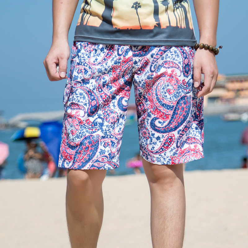 mens   board     shorts   2018 summer new design bohemian style paisley print beach   shorts   quick dry swimshorts men plus size XXXL