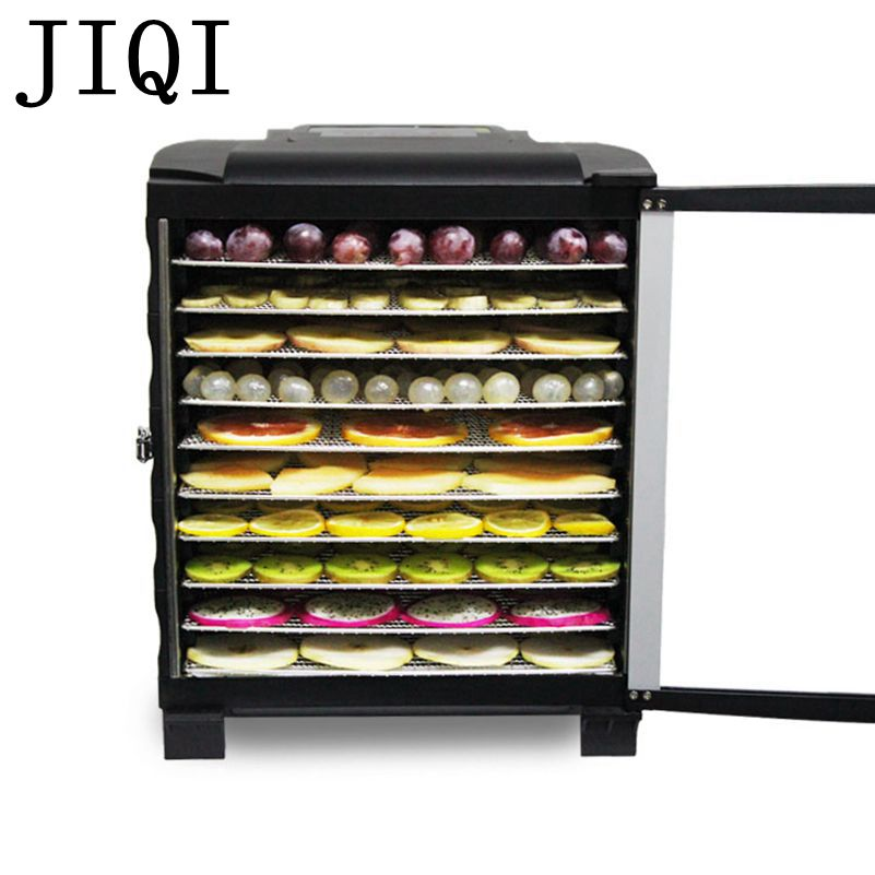 JIQI Household Electric dried fruits Dehydrator Snacks pet Food Dryer Fruit Vegetable Herbs Drying Machine 10 trays 110V 220V EU 2015 new delicious wild zizyphus jujube in shanxi 200 g red dried fruits candied jujube leisure cocktail snacks free shipping