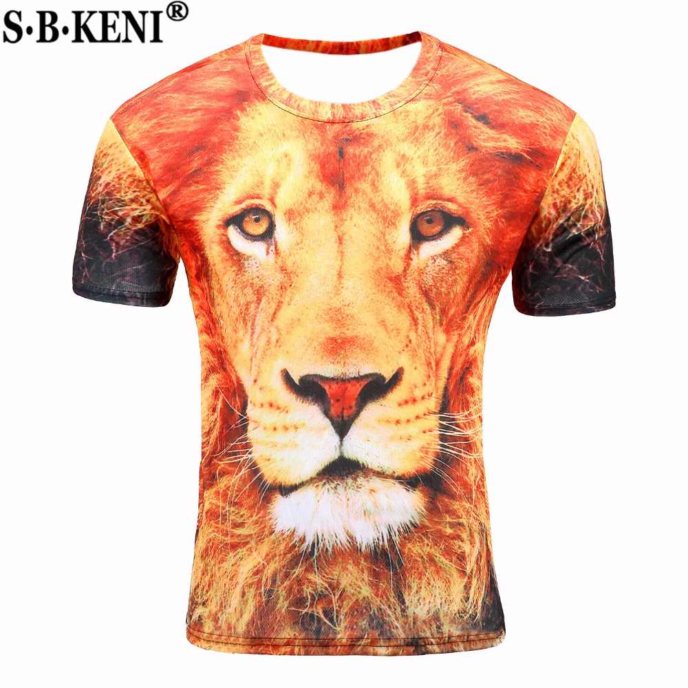 08c49e698 Detail Feedback Questions about 3D T shirt Mens Hot 2018 Summer Lion ...