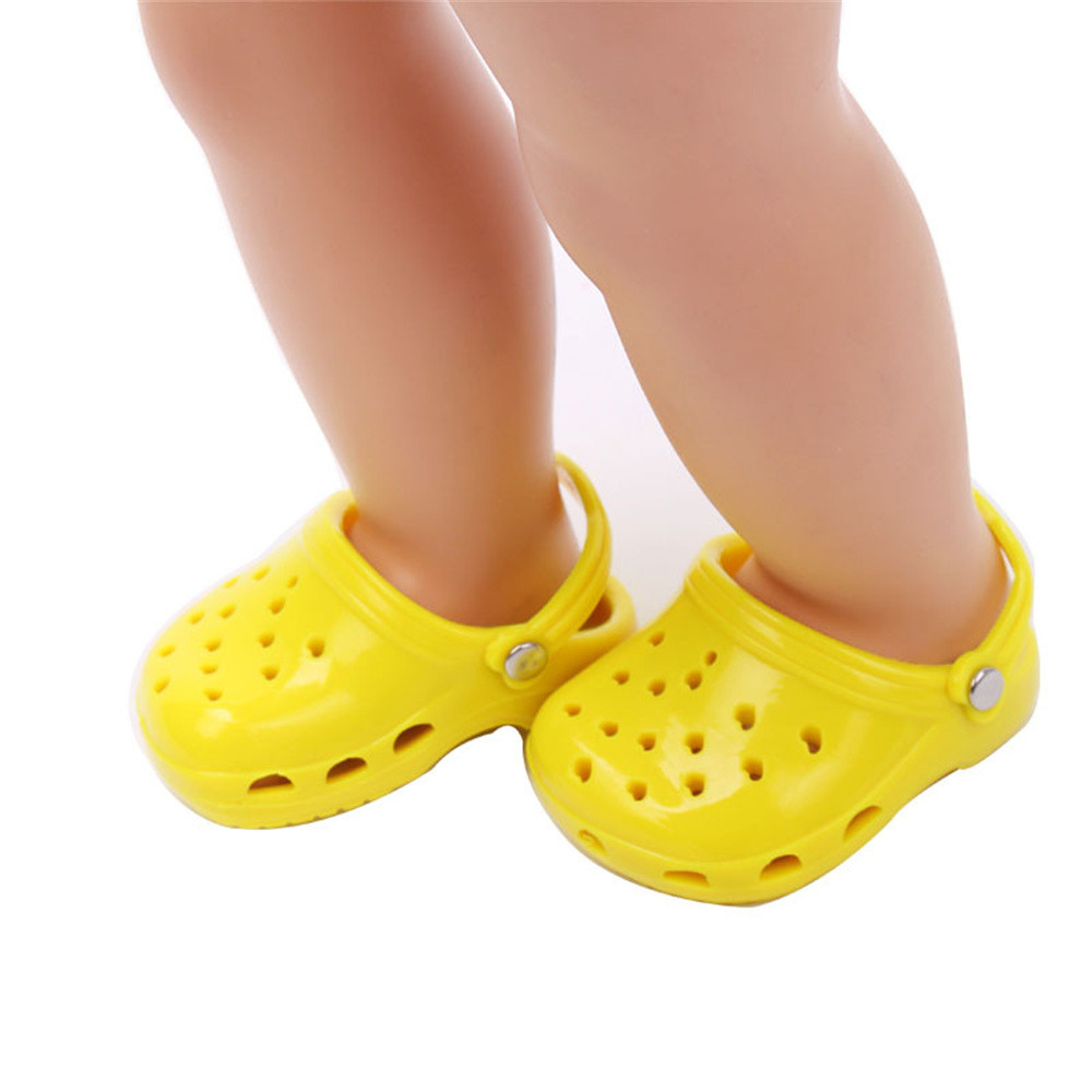 Baby Born Cool Fashion Doll Shoes Solid Slippers For 18 Inch Our Generation American Girl Doll glitter doll shoes star dress shoe for 18 inch our generation american girl doll