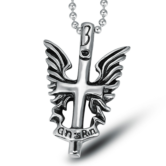 2017 New Fashion Stainless Steel Cross Necklaces Pendants For Men