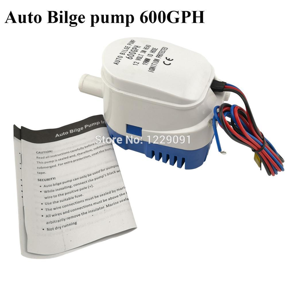 Automatic <font><b>Bilge</b></font> Water <font><b>Pump</b></font> <font><b>12V</b></font> 600GPH <font><b>750GPH</b></font> 1100GPH Submersible Auto <font><b>Pump</b></font> With Float Switch for Sea Boat Marine Bait Tank Fish image
