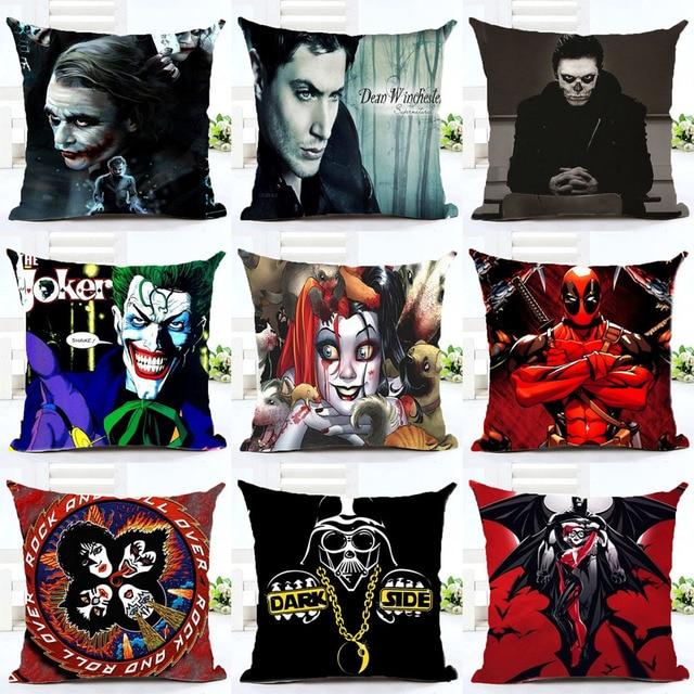 Us 498 45x45 Cm Kissenbezug Harley Quinn Batman Joker Baumwolle Bettwäsche Klar Auto Sofa Schlafzimmer Haus Dekorative Euro Werfen Kissenbezug In