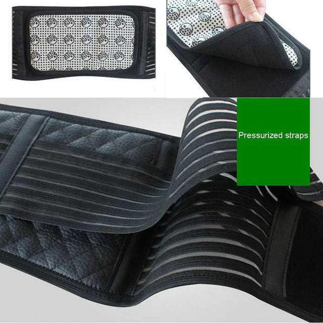 Self-heating Magnetic Therapy Lumbar Belt Waist Back Support Brace Abdomen Keeping Warm Protector Tourmaline Products