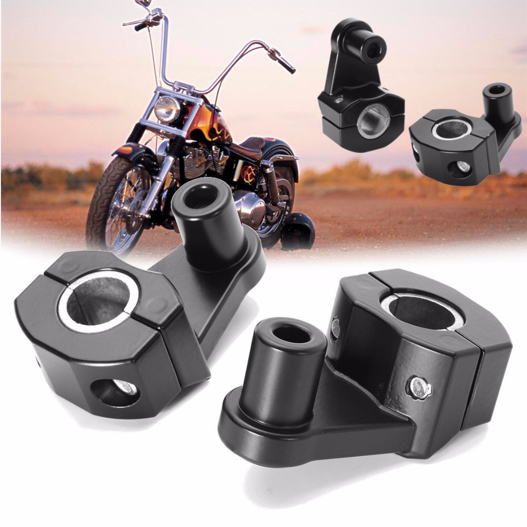 1 Pair 7/8 CNC Aluminum Handlebar Mount High Quality Motorcycle HandleBar Handle Fat Bar Mount Clamp Riser for 22mm/28mm high quality bike cycle aluminum handlebar bar clamp mount for gopro hero 1 2 3 3 camera mount holder