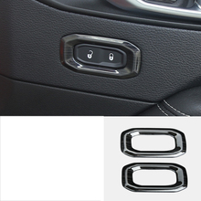 lsrtw2017 titanium black stainless steel car door lock button frame trims decoration for jeep wrangler 2018 2019 JL
