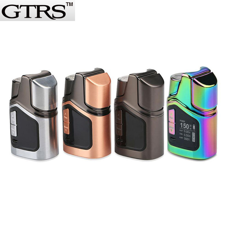 Original GTRS GT150 4000mAh Vape MOD 150W Big Vape TC Box Mods Vaporizer Fit 510 Thread Tank RBA RDA RDTA Atomizer smoant battlestar 200w tc mod electronic cigarette mods vaporizer e cigarette vape mech box mod for 510 thread atomizer x2093