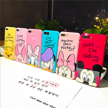 JAMULAR Winnie Pooh Case For iPhone X 7 6 6s Plus Soft TPU Back Cover Fundas For iPhone 8 Plus Cute Mickey Minnie Daisy Capinha winnie the pooh iphone case