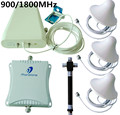 70db 900/1800MHz High Gain Dual Band Cellphone Signal Booster GSM Repeater Celular Mobile Phone Amplifier with 4 Antenna + Cable