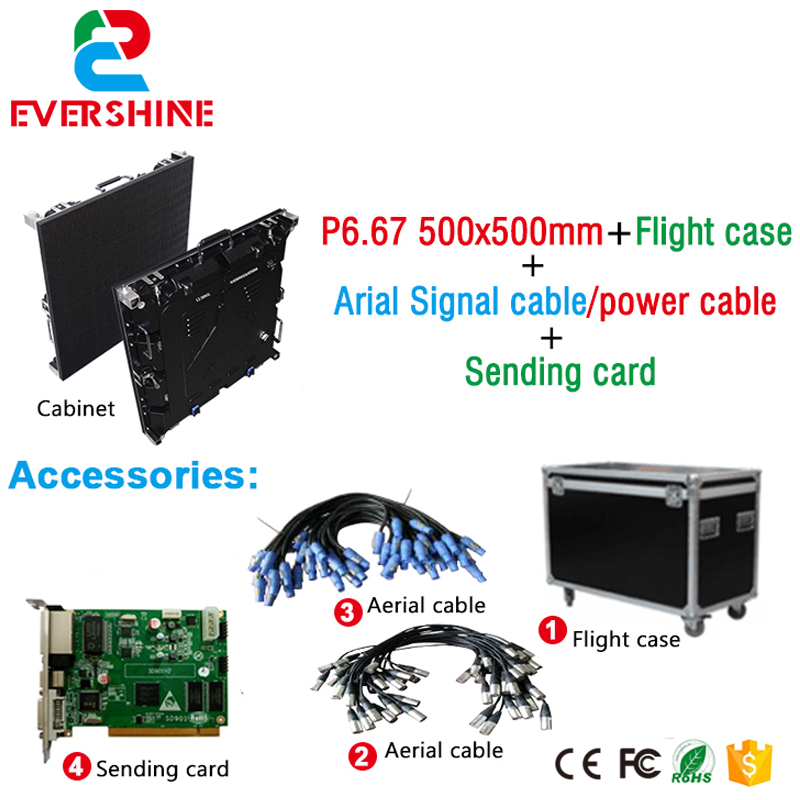 high brightness p6.67 outdoor full color led display HD rental video wall 500x500mm Die-casting Aluminum p7 outdoor dip full color led panel display module high resolution high brightness high refresh high quality