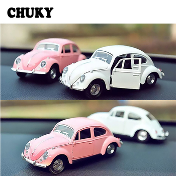 CHUKY 1pcs Auto Interior Mini Beetle Car Model Bauble Kid Toys Gifts For BMW E36 F30 F10 E30 M X5 Ssangyong Volvo XC90 V70 XC60 image