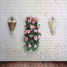 Натуральная плетеная корзина для цветов настенный ротанговый подвесной горшок плантерваза коробки корзина Декор для дома Садоводство украшения