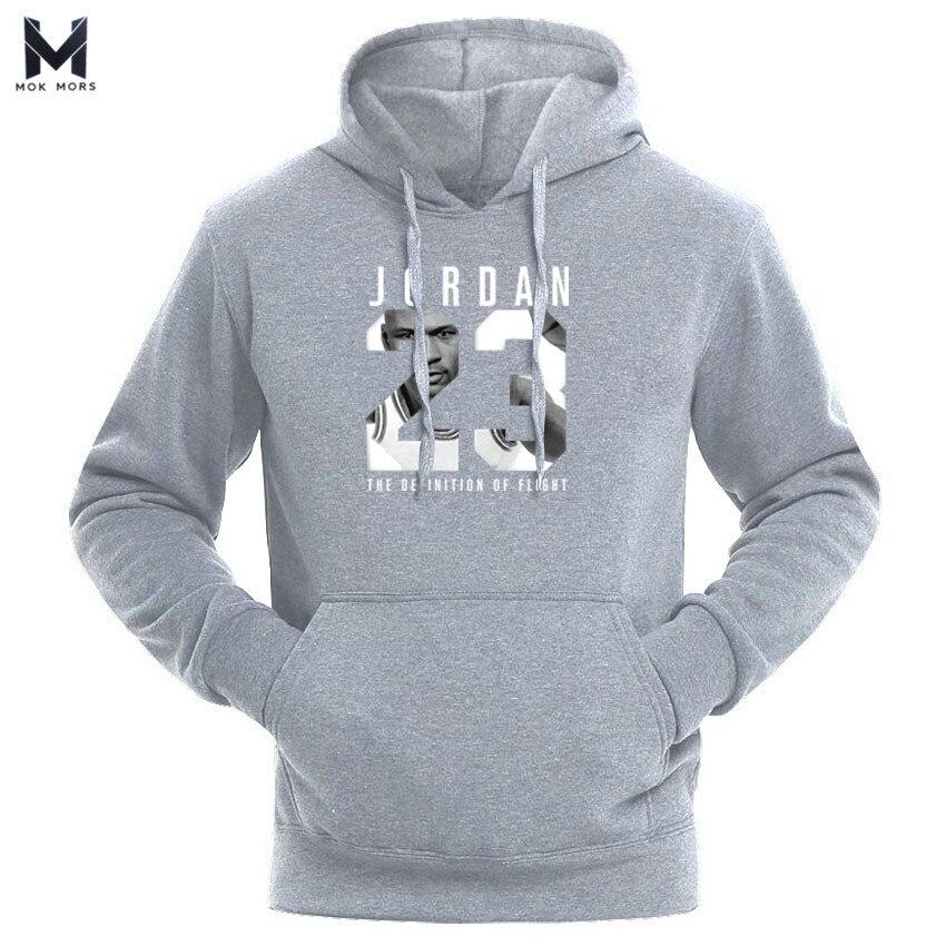 2018 di Marca JORDAN 23 Gli Uomini di Abbigliamento Sportivo di marca di Modo di Stampa Mens felpe con cappuccio Pullover Hip Hop Mens tuta Felpe con cappuccio felpe