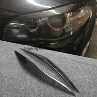 Rear Carbon Fiber Headlights Eyebrows Eyelids For BMW F10 5 Series Car Styling Front Headlamp Eyebrows
