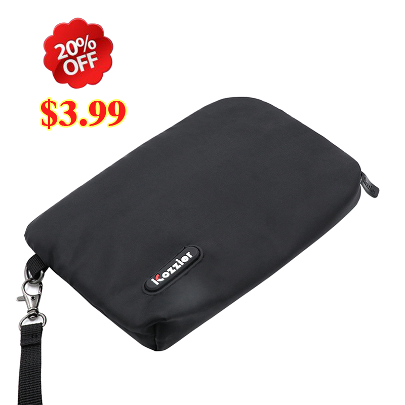 Electronics Accessories Bag, iCozzier Portable Travel  Home Office  Cellphone Accessories Organizer Pouch Case Wallet Purse