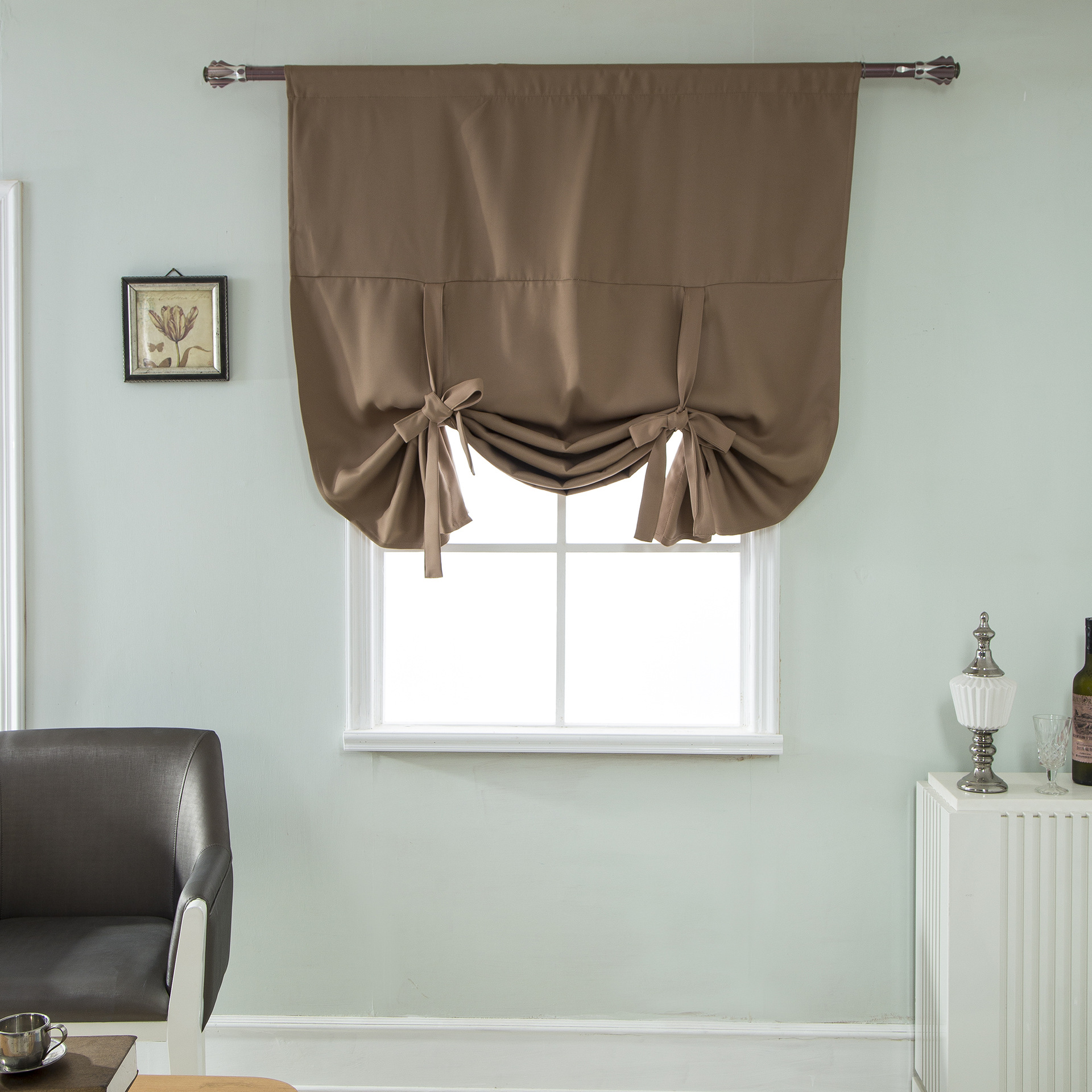 Curtains Blinds Room Darkening Short Roman Window Curtain Tie Up Kitchen Shade Solid Color New Home Furniture Diy Hashtagcoffee Com Au