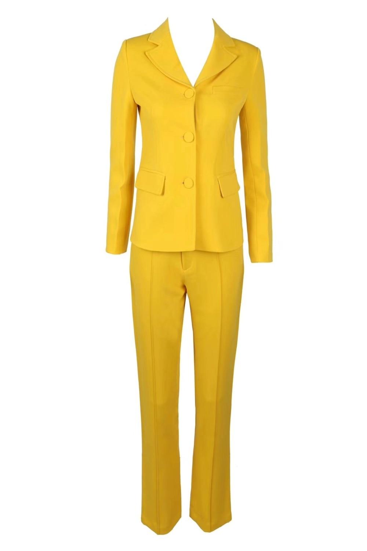 2018 neue Mode 2 stück set frauen sexy V ausschnitt Gelbe Taste Fly Homecoming Abend Party Sets Top Qualität - 3