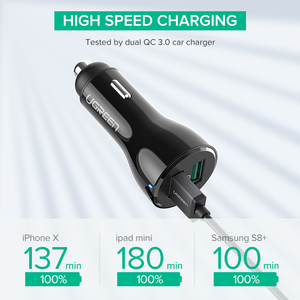 Image 3 - Ugreen Car Charger Quick Charge 3.0 USB Fast Charger for Xiaomi mi 9 iPhone X Xr 8 Huawei Samsung S9 S8 QC 3.0 USB Car Charger