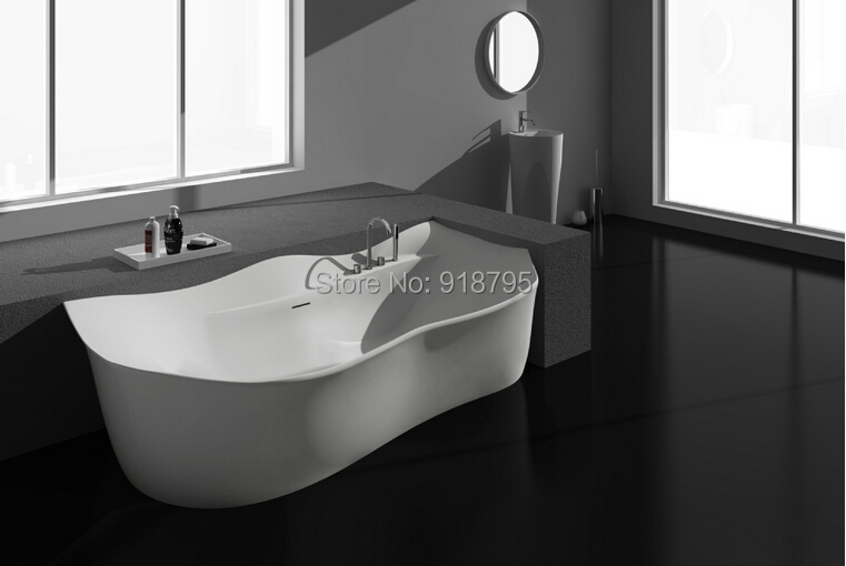 2050x880x630mm Solid Surface Stone CUPC Approval Bathtub Rectangular Freestanding Corian Matt Or Glossy Finishing Tub RS6537B