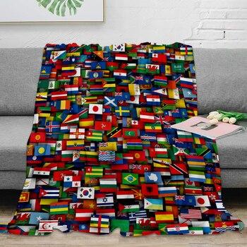 Fahnen Von Allen Ländern Der Welt Werfen Decke Warme Mikrofaser Decke Decken Für Betten Hause Decor