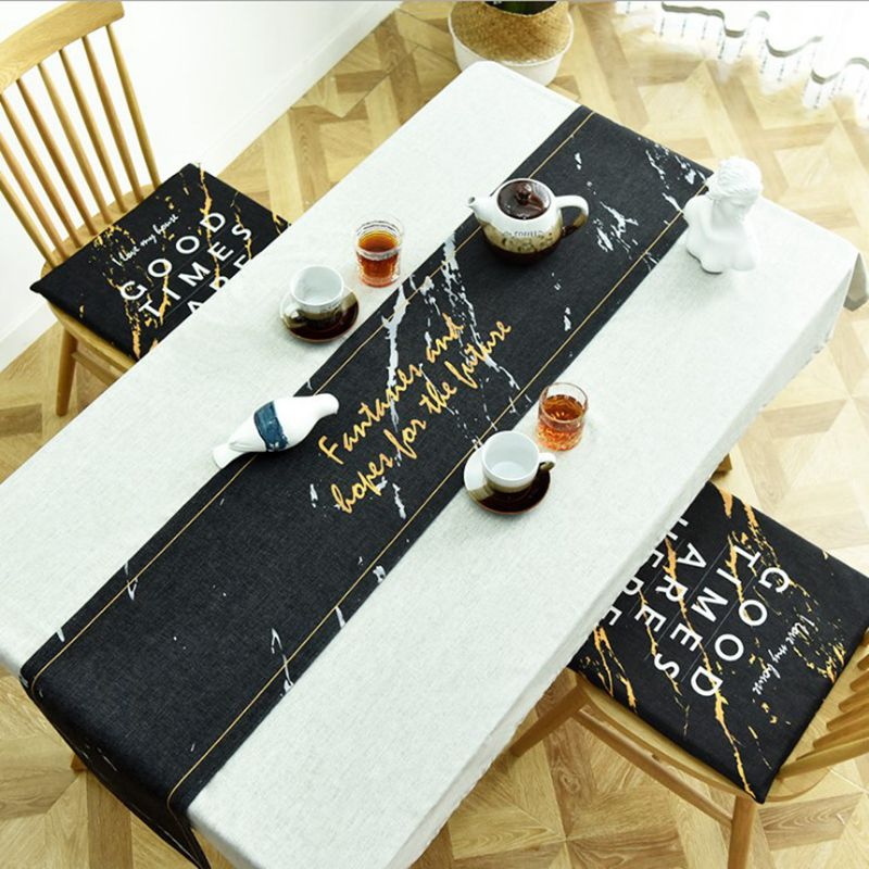 Enjoyable Us 10 16 5 Off Black Marble Design Dining Tv Table Runner Printed Quotes Decorative Cover For Bench Cabinet Modern Cotton Linen Tablecloth In Table Ibusinesslaw Wood Chair Design Ideas Ibusinesslaworg