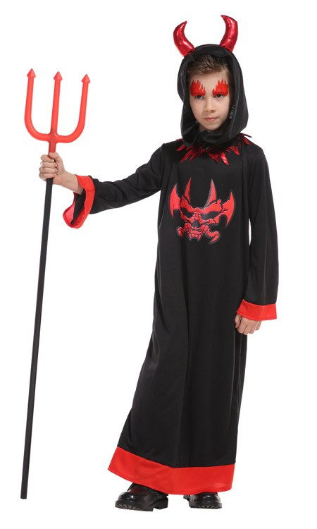 boy Vampire Black Devil Evil boy Cosplay Ankle-Length Dress Set Halloween Costume For Kids Role Play Party Cosplay Clothing