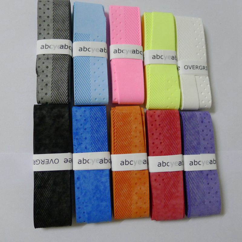 1 pc Badminton Overgrip Tennis Grips ABCYEE dry feel candy color Racquets Wraps Hand Glue Overgrips Non-slip Tenis Fishing Grip