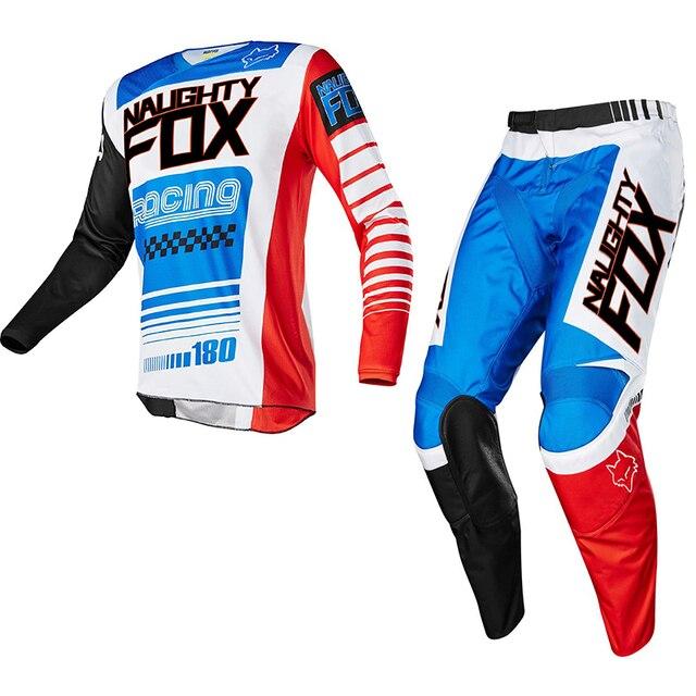 Racing 180 Race Falcon Nirv Jersey Pant Set MX MTB Motocross ATV Dirt Bike Shirt Suit Off-Road Mens Racing Gear