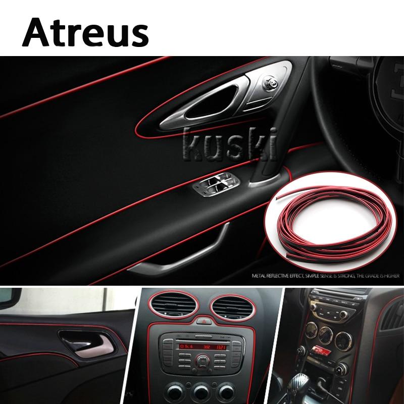 Atreus 3m Car Center Console Internal Trim Stickers For Ford Focus 2 3 Fiesta Toyota Corolla Avensis Mazda 3 6 cx-5 Lada Lexus
