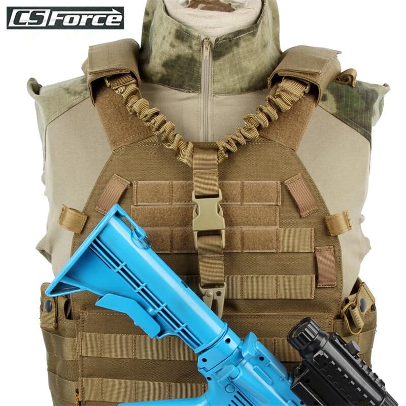 Spanker Tactical Gun Sling Swivel Einstellbare Bungee Sicherheit Seil - Jagd
