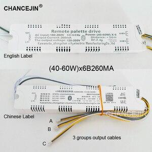 Image 5 - RF 2.4G שלט רחוק LED נהג תאורת שנאי יכול להיות נשלט על ידי app,40 60W קלט: AC180 260V פלט: DC120 205V 260mA