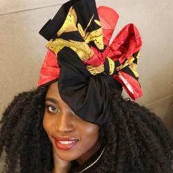 """Shenbolen цветочный Headwrap для женщин Африканский Традиционный платок тюрбан 100% хлопок воск 72 """"x 22"""""""