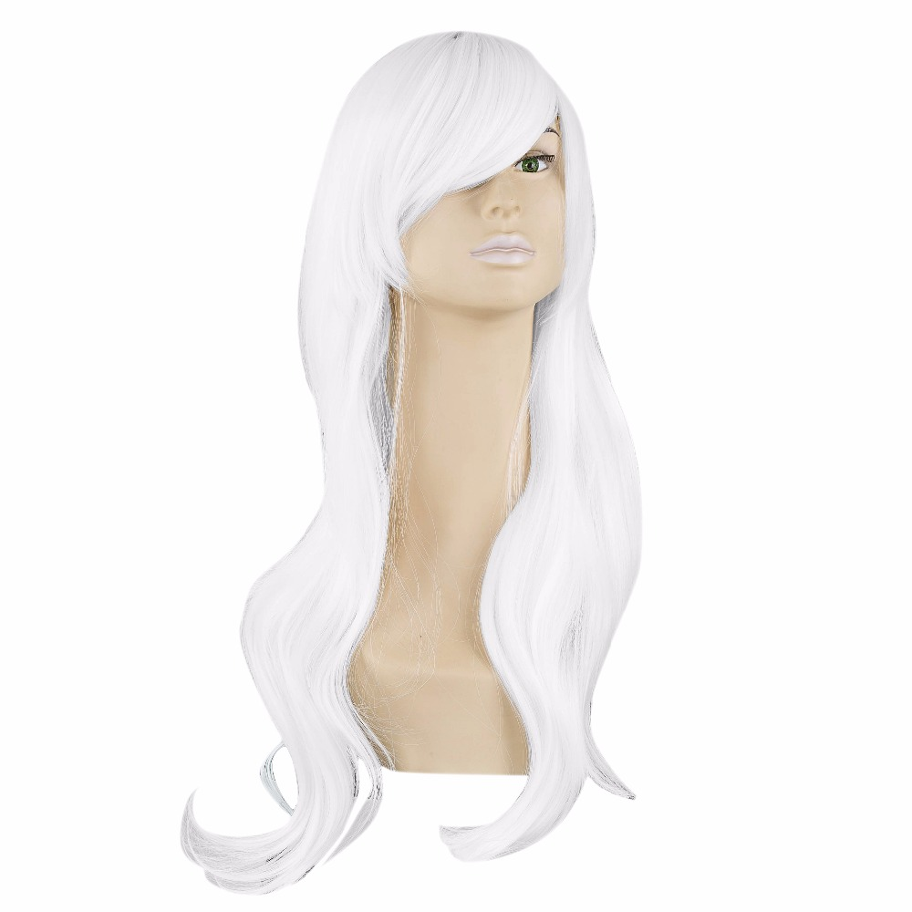 Hair Extensions & Wigs Considerate White Wig Fei-show Synthetic Heat Resistant Fiber Long Wavy Hair Perruque Peruca Party Women Hairpiece Salon Female Hairset Synthetic Wigs