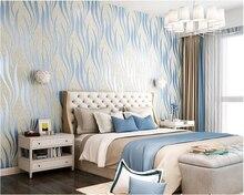 beibehang Thicken modern simple vertical stripes deerskin cashmere papel de parede wallpaper living room bedroom TV background