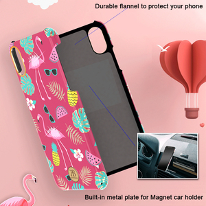 Image 4 - Original Kingxbar Crystals Rhinestone Flower Case For Apple iPhone XS XS MAX X Fashion Built in Metal Plate Hard Back Cover Case