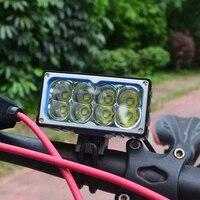 Высокая Мощность 10000 люмен велосипед света 8 * XML T6 светодиодный спереди Велосипедный Спорт лампы фар Mountain цикл Spotlight для кемпинга свет