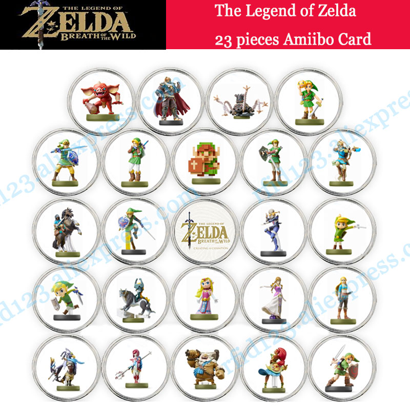 NFC Amiibo Coin Tag For The Legend Of Zelda-23 Pieces NFC Amiibo Card