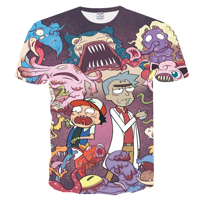 49f9eb9b0 BIANYILONG 2018 t-shirt man new arrival 3D t shirt rick and morty printed t- shirts casual short sleeve men women tops tees