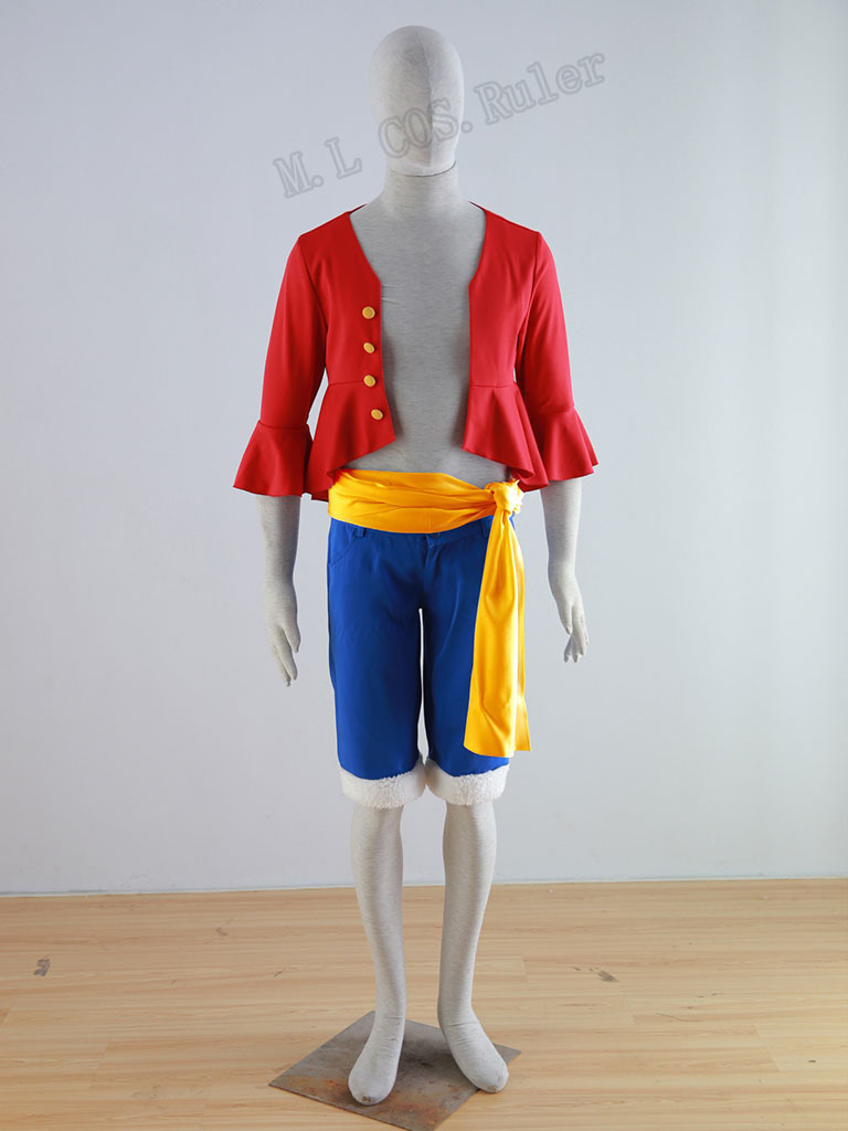Hot Sale One Piece Luffy Cosplay Costumes Any Size