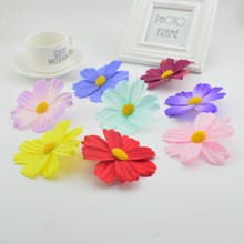 1pcs 10cm Large Silk Gerbera Artificial Flower Head For Wedding Car Decoration DIY Garland Decorative Floristry Flowers(China)