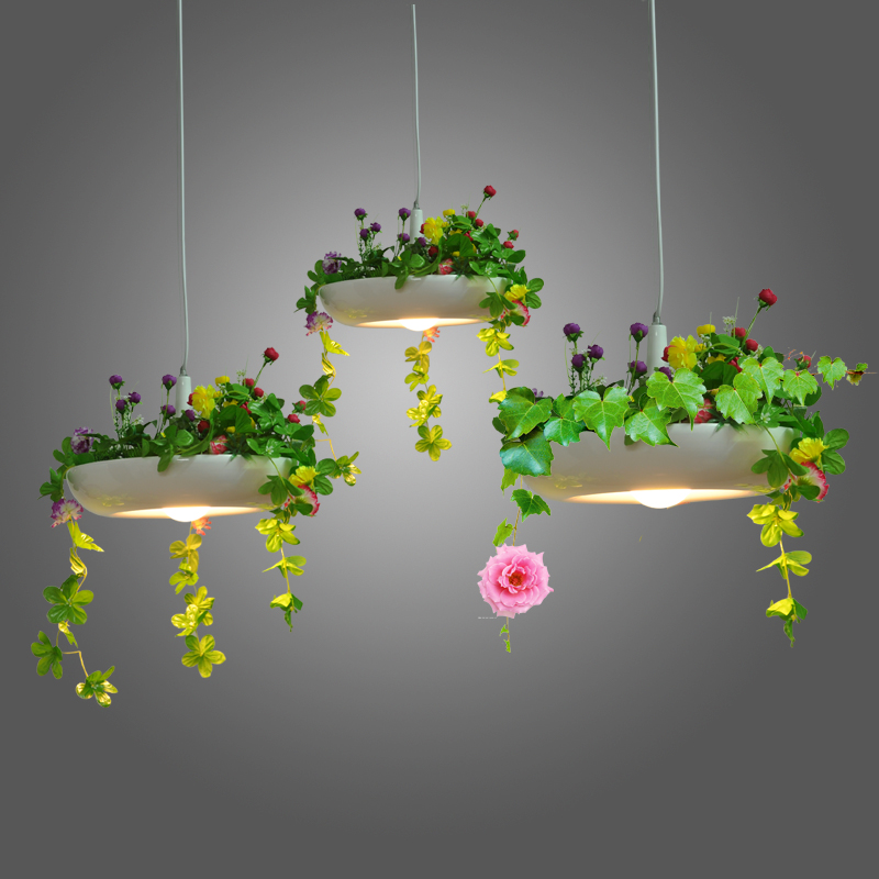 цена на 1Pc Nordic country pendant lamp wind pot disk Babylon Babylon plant Pendant Lights pots hanging lamp FG961