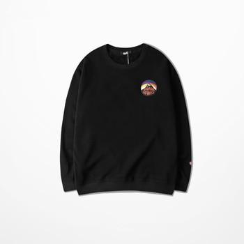2018 new autumn sweatshirt men round neck hoodies fleece long sleeve printing hip hop loose streetwear trend bottoming shirt