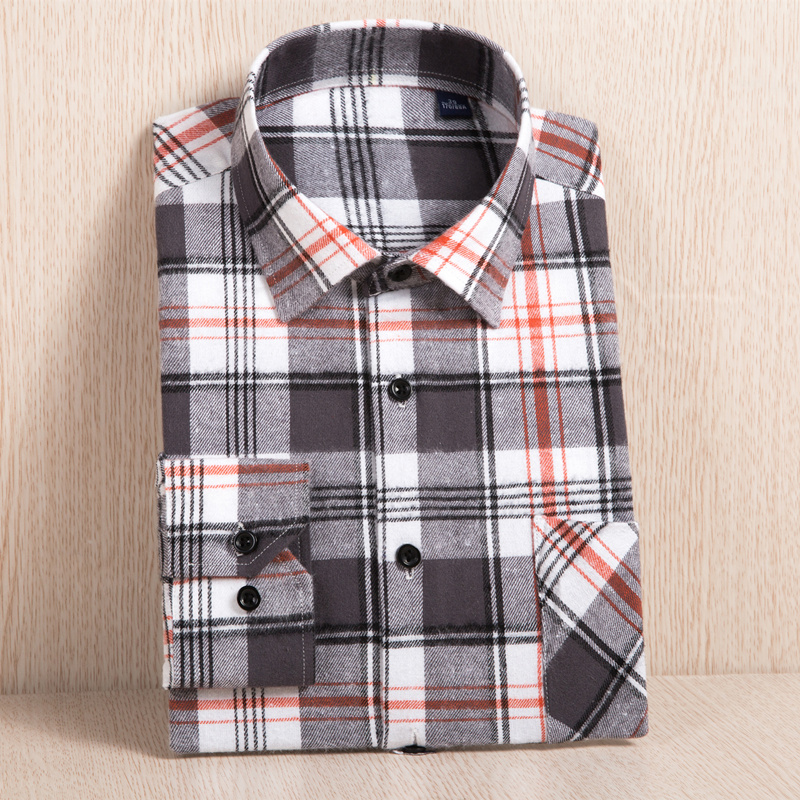 2020 New Men's Plaid Flannel Shirt Plus Size 5XL 6XL Soft Comfortable Spring Male Slim Fit Business Casual Long-sleeved Shirts 4