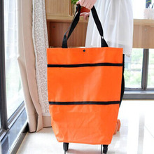Foldable Wheel Trolley Shopping Bag Portable Cart Folding Home Travel Luggage Hot Sale new hot 36l foldable portable trolley aluminum alloy wheel bag shopping bag cart for shopping home travel