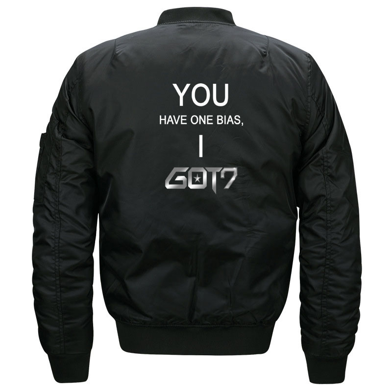 Funny Kpop Got7 Meme Bomber Jacket for Women and Men Cute Girls Korean Boy Band You Got One Bias I Got 7 Jackets Plus Size S-5XL