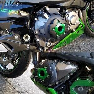 Image 2 - Motorbike Motorcycle Z800  Engine Stator Cover Guard Protection For Kawasaki Z800 2013 2014 2015 2016 motor protector