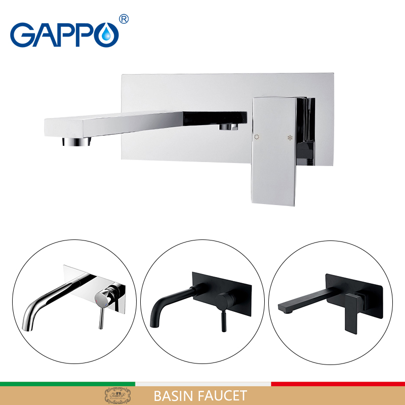 GAPPO Basin Faucet high quality wall mounted bathroom basin mixer taps sink faucet waterfall faucet chrome black torneira