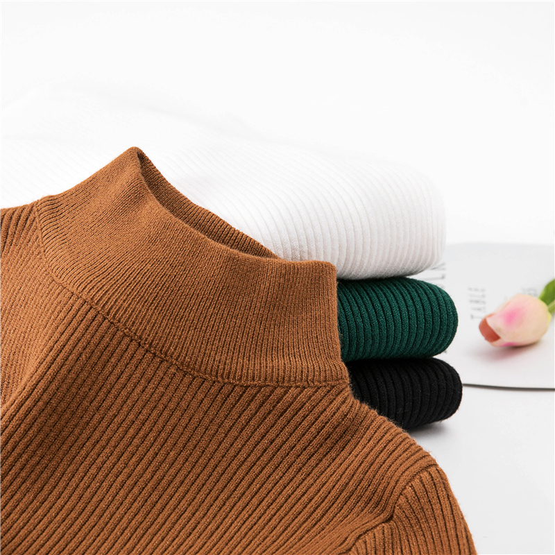 Chompas de mujer para el invierno 2018 Autumn Winter Women Sweaters and Pullovers Half T ...