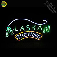 Alaskan Brewing Co Beer Neon Sign neon Light Sign Real galss tubes Commercial Recreation Rooms Neon signs for sale Dropshipping